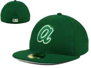 Brand New NWT MLB Atlanta Braves New Era St Pattys 59Fifty 7 1/2  Hat Cap GD