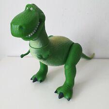 """Toy Story REX Dinosaur Poseable figura Thinkway Juguetes Disney Pixar 11"""" de alto en muy buena condición"""