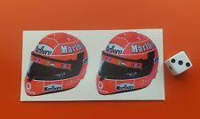 Michael Shumacher casco F1 Adhesivo Formula 1 Ferrari 50mm X 50mm X 2