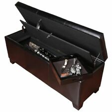 Gun Safe Fireproof Hidden Rifle Shotgun Pistol Storage Bench with Cushion Lock