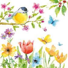 Pájaro flor de mariposa Rama 33cm x 20 3 Capas Servilletas papel