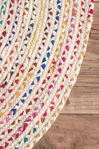 Rug 100% Natural Cotton handmade reversible rug modern living home decor rag rug