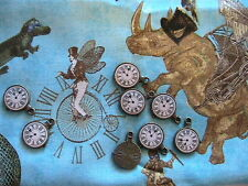"Lot of 4 STEAMPUNK CLOCK CHARMS~Tibet bronze 1"", jewelry~scrpbk~art~craft~dolls+"