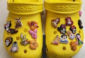 30 Girls Mixed Croc shoe charms (Jibbitz) Childrens Disney free P&P