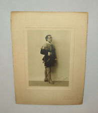 Old Antique vtg 1900s Stage Actor Glasgow Signed Cabinet Card Photograph Photo