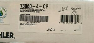 NEW Kohler 73060-4-CP Composed Widespread Faucet with Levers in Polished Chrome