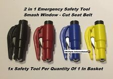 Mini 2 In 1 Emergency Safety Hammer Break Glass Cut Seat Belt VW Golf GTi R R32