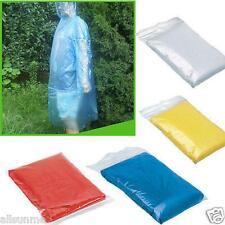 10x Disposable Adult Emergency Waterproof Rain Coat Poncho Hiking Camping Hood
