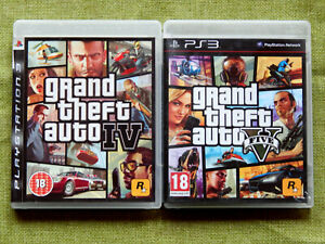 Grand Theft Auto IV, V / 4, 5 (PlayStation 3, PS3, Region Free, Map, Complete)