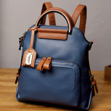Oil Wax Leather Women's Fashion Backpack Outdoor Travel Rucksack School Bag