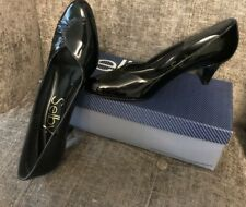 Selby Women's Jewell Black Patent Leather Pumps Shoes Size 9.5 3A (Narrow) Box