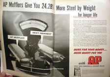 1960's AP Parts Corporation ASBESTOS Muffler Liner Advertisement Tube Products