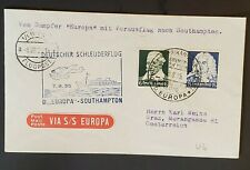 1932 Vienna Austria Popayá Colombia D Europa Catapult Registered Air Mail Cover