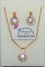 Set gioielli Donna oro rosa placcato e cristalli Swarovski veri SWSEOR19-002