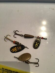 Vintage Mepp's Spinners Fishing Lures X 3
