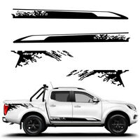 Pickup Side Body Vinyl Film Decor Decal Stickers Black For Nissan NAVARA NP300