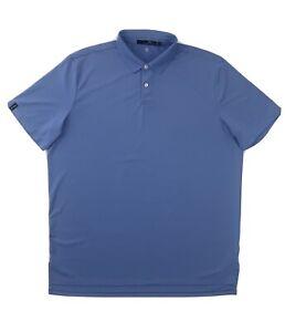 Ralph Lauren RLX Polo Shirt XL Blue Short Sleeve Golf Button Up