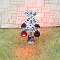 1 x N scale railroad grade crossing signals 2 tracks LED lights 4 target #CSn4s