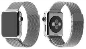 Cinturino Apple Watch Maglia Milanese Acciaio nero 2 3 4 5 6 SE 38 40 42 44 ✅
