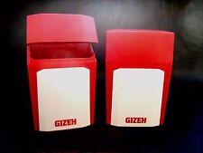 """Zig. - Etui von """" Gizeh """", Hartplastik, passend für 21 lose Zig., Rot / Grau"""