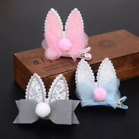 Sequined Baby Girls Toddler Hairpin Rabbit Ear Bow Hair Clip