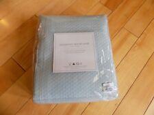 "Restoration Hardware Diamond Matelasse Powder Blue Shower Curtain 72""X72"""
