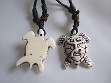 1pcs White Taino Necklace Pendants Beach Surfer Turtle Frog Boho Hippy