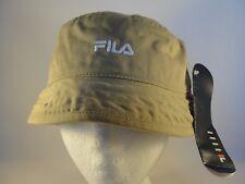 Fila Vintage Bucket Hat Size S/M Khaki