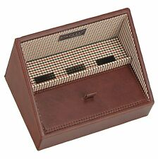 Stackers Men's Brown Stacker Charging Valet With Check Lining
