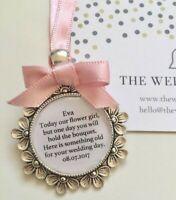 Flower Girl Bridesmaid Something Old Charm Gift Personalised