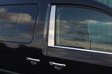 Chrome Side Door Window B-Pillar Trim Covers To Fit Volkswagen Caddy (2004-15)