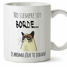 MUGFFINS Taza Graciosa - No Siempre Soy Borde es Broma - 350 ml - Tazas con F...