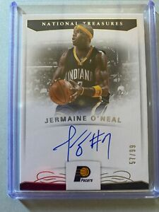 A7827 - 2017-18 Panini National Treasures Signatures #58 Jermaine O'Neal Auto/99