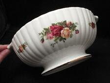 ROYAL ALBERT ENGLAND OLD COUNTRY ROSES FINE BONE CHINA HANDLED SERVING BOWL
