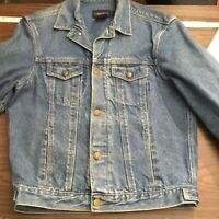 Vintage Woman's Large Calvin Klein Denim Jacket Trucker Distressed 90's