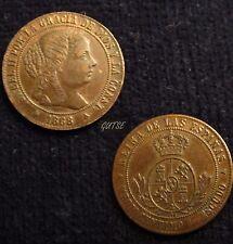 *GUTSE*520-ISABEL II, 1/2 CÉNTIMO DE ESCUDO 1868, SEGOVIA, EBC