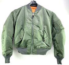USAF MA-1 Green Flight Jacket By Greenbrier Mnfg MIL-J-82790 Made in USA Men's M