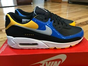 Nike Air Max 90 Premium City Pack Shanghai Black Yellow Blue CT9140 001 Size 11