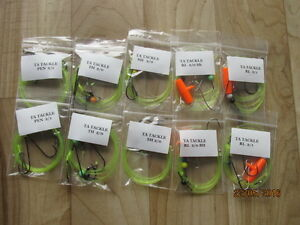 10x 2/0 mixed sea fishing Rigs good for cod,bass, flatties etc
