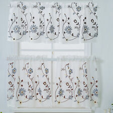 Short Floral Printed Curtain Kitchen Coffee Cafe Window Valance Divider Drape