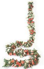 5 Pcs 8.2ft Fake Champagne Rose Vine Plants Artificial Flower Hanging Rose Ivy