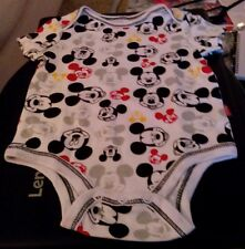 Disney Mickey Mouse Happy Mickey Bodysuit Short Sleeve Newborn Baby Boy 0-3 M