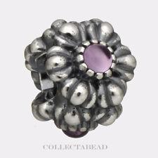 Authentic Pandora Silver Amethyst February Birthday Bloom Bead 790580AM