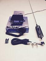 CB Radio AM/FM Starter Kit Team TS-6M+Springer CB Antenna & Flat Bar Mirror Kit