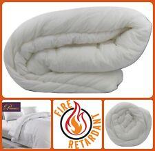 100% Cotton FIRE RETARDANT Duvet Quilt Hotel Bedding Single Double King Pillow