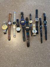 lot of 11 Vintage Mens Women's Watch Watches Flea Market Quartz JAPAN Hong Kong