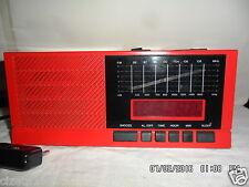 RADIO SVEGLIA INNO HIT DIGITALEVINTAGE ORIGINALE ANNI 80 FUNZIONANTE rossa/nera