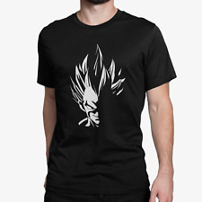 DBZ Evil Vegeta T-shirt Dragon Ball Z Super Saiyan Anime Manga Gift Tee Top MENS