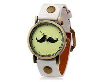 Reloj BIGOTE bigotes retro BLANCO Moustache mustache watch A1521