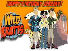 WILD KRATTS Edible ICING Image Birthday CAKE Topper Decoration FREE SHIPPING